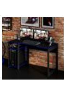 Mesa Gamer Best Preta E Azul