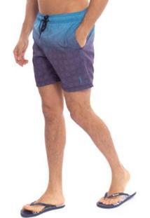Shorts Aleatory Wave Masculino - Masculino-Azul