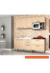 Cozinha Compacta Vitória 6 Pt 5 Gv Capuccino E Creme