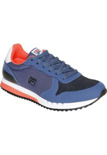 ... Tênis Retro Runner Super Foam®- Azul   Laranja Neonfila ad78fdd3b7cf9