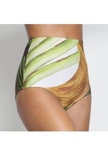 Calcinha Hot Pant- Verde & Marrom- Livellelivelle