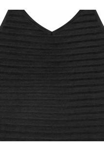 Blusa Com Alças Tricô Preto Reativo - Lez A Lez