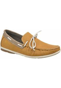 Mocassim Atron Shoes Casual - Masculino-Bege
