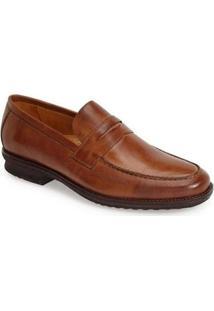 Sapato Social Couro Sandro & Co Masculino - Masculino-Marrom Claro