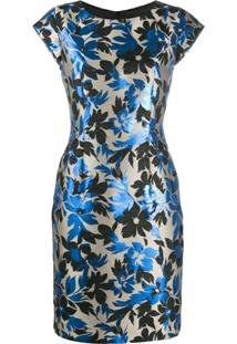 Boutique Moschino Vestido Midi Com Bordado Brocado - Neutro
