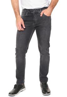 Calça Jeans Aleatory Skinny Estonada Cinza