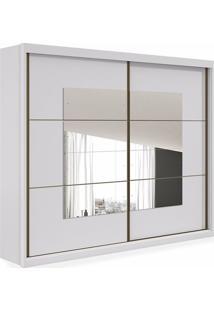 Armário Tarso 02 Portas Sendo 01 Com Espelho, Padrao - Branco