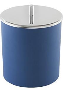 Lixeira Plástica Azul Com Tampa Decorline 5,4 Litros 3400/262 - Brinox