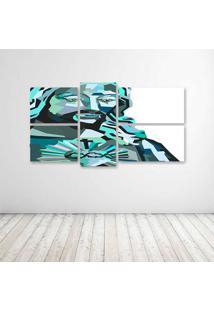 Quadro Decorativo - Jesus Arte - Composto De 5 Quadros - Multicolorido - Dafiti