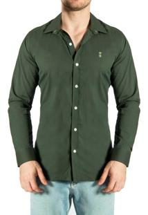 Camisa Sergio K. Poliamida Strech Lisa Verde