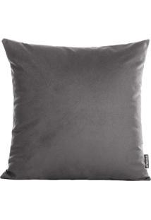 Capa De Almofada Aveludada Velvet- Cinza Escuro- 42Xstm Home