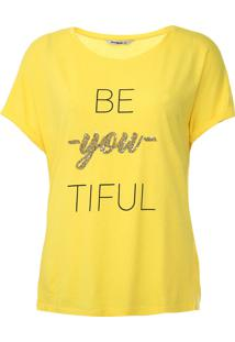 Blusa Desigual Be You Tiful Amarela - Kanui