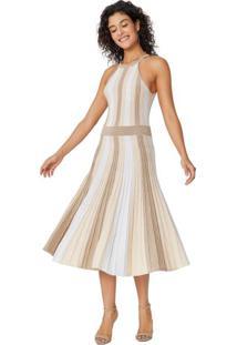 Vestido Midi De Lurex