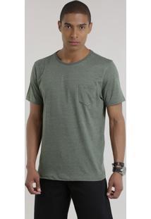 Camiseta Básica Verde Militar