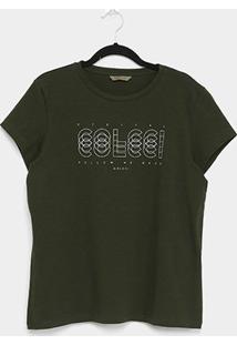 Camiseta Colcci Básica Logo Feminina - Feminino
