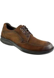 Sapato Casual Constantino Cadarço Masculino - Masculino-Marrom
