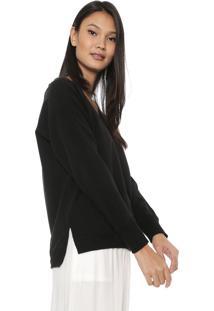 Suéter Liz Easywear Liso Preto