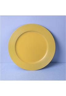 Sousplat Roma Cor: Amarelo - Tamanho: Único