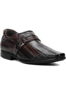 Sapato Social Masculino Pegada Marrom