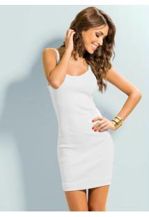 Mini Vestido De Alça Branco