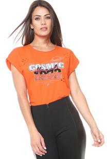 Camiseta Ellus Cosmic Laranja
