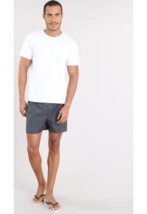 Pijama Masculino Com Camiseta Manga Curta + Samba Canção Estampada Mini Print Branco