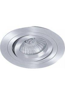 Spot Embutido Redondo Ecco Par20 12Cmx12Cm Bella Iluminação - Caixa Com 3 Unidade - Alumínio Escovado