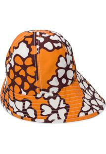 3.1 Phillip Lim Floral Print Sun Hat - Laranja