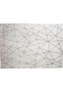 Tapete Belga Geometric Desenho 01 0.67X1.05 - Edantex - Cinza