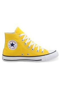 Tênis All Star Converse Cano Alto Amarelo