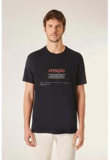 Camiseta Est Termo D Responsabilidade Vj Reserva Masculina - Masculino-Preto