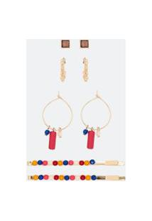 Conjunto Brincos E Grampos De Cabelo | Accessories | Dourado | U