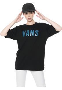 Camiseta Vans Oversized S Wm Streaked Preta