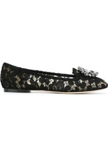 Dolce & Gabbana Slipper Modelo 'Vally' - Preto
