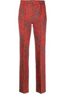 Missoni Calça Com Estampa De Tigre - Vermelho
