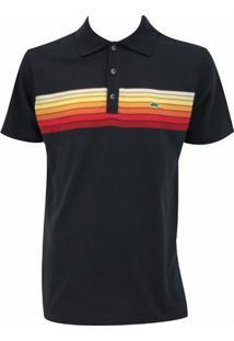 809e455250d1b Camisa Pau A Pique Polo - Feminino-Marinho