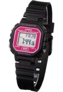 Relógio Feminino Digital Casio - Unissex-Preto+Pink