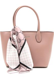 Bolsa Dumond Monograma Rosa