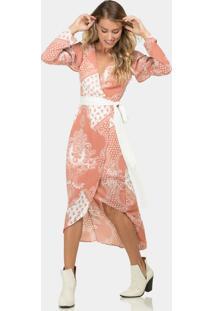 Vestido Mídi Estampado Cinto Tecido Gypsy - Lez A Lez