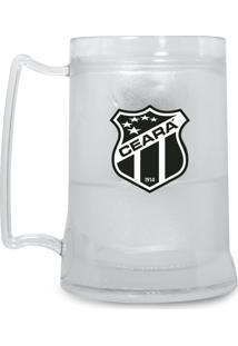 Caneca Ceará Sporting Club Personalizada Cor Transparente Shop Acrílica Gel Congelável Escudo Vozão