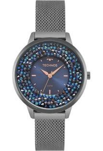 Relógio Technos Feminino Crystal - Feminino-Azul