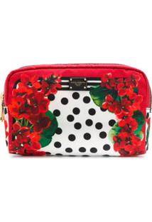 Dolce & Gabbana Necessaire Com Estampa Floral - Branco