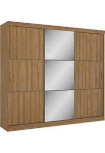 Guarda-Roupa 3 Portas Thb Dumont Glass, Almendra