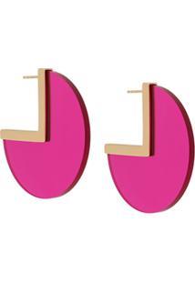 Isabel Marant Par De Brincos Asphalt Com Formato Geométrico - Rosa