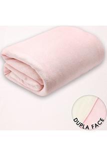 Cobertor Solteiro Lepper Kids Glam Dupla Face Rosa 1,60 X 2,40