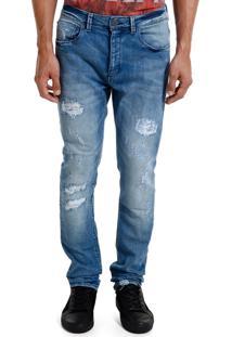 Calça John John Skinny May Jeans Azul Masculina (Jeans Medio, 38)