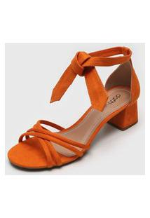 Sandália Dafiti Shoes Amarração Laranja