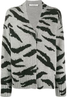 Philosophy Di Lorenzo Serafini Animal Pattern Wool Cardigan - Cinza
