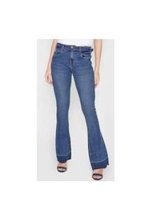 Calça Jeans Morena Rosa Bootcut Camila Azul