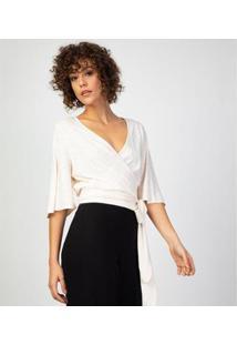 Liz Easywear Blusa Transpassada Flamê Feminina - Feminino